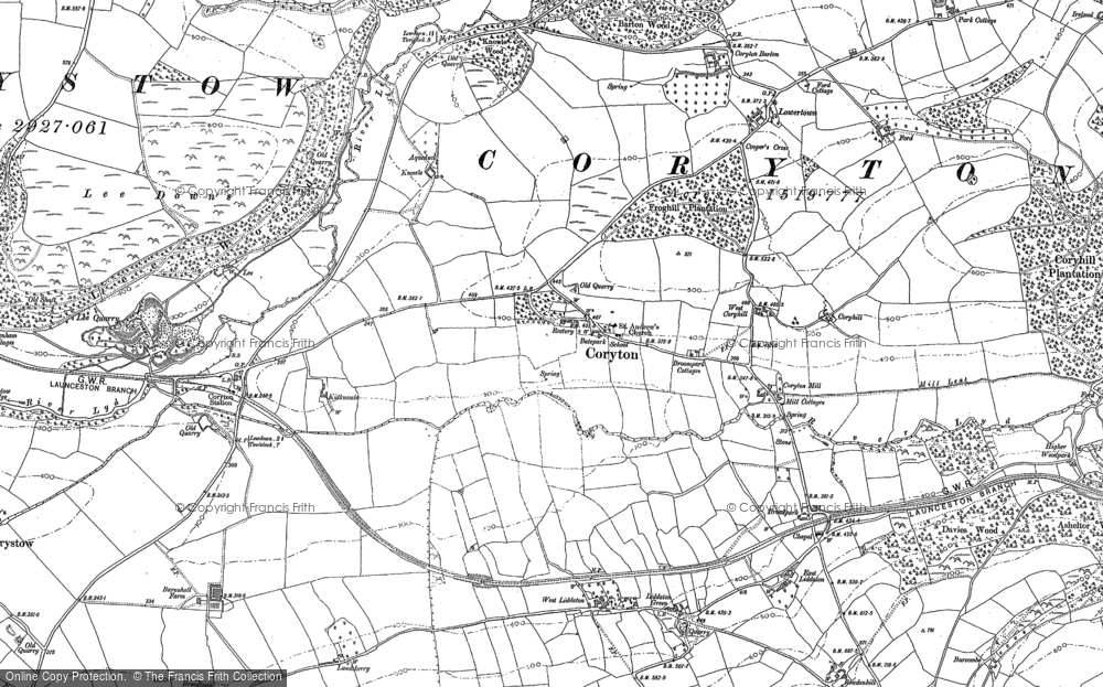 Old Map of Historic Map covering Lew Wood in 1882
