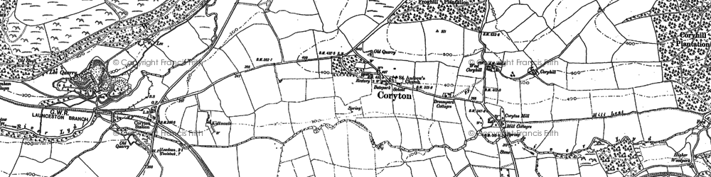 Old map of Lew Wood in 1882