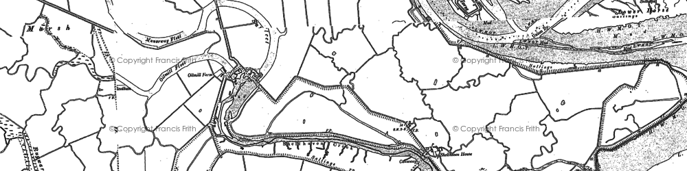 Old map of Coryton in 1895
