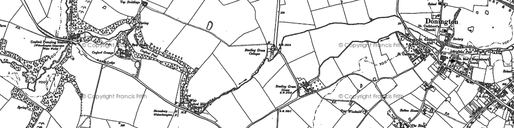 Old map of Cosford in 1881