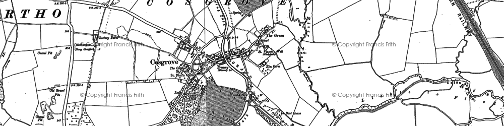 Old map of Cosgrove in 1898