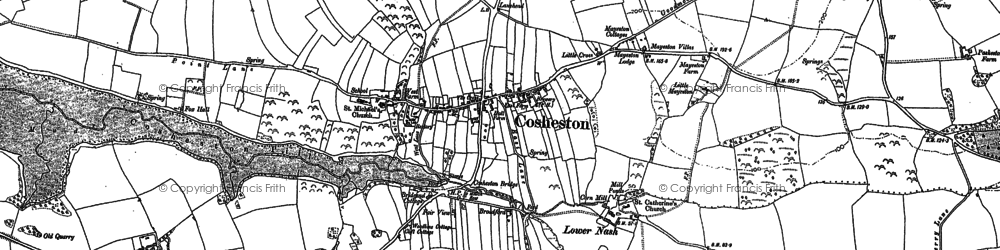 Old map of Bangeston Hall in 1906