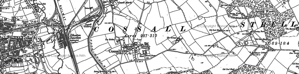 Old map of Larklands in 1899