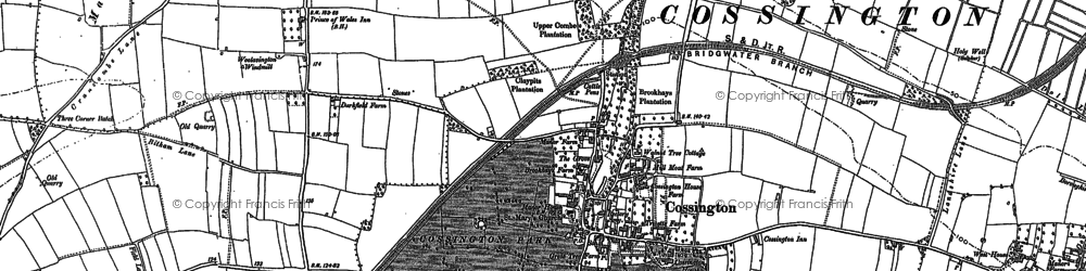 Old map of Cossington in 1885