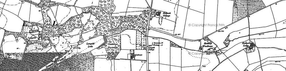 Old map of Langold Country Park in 1897