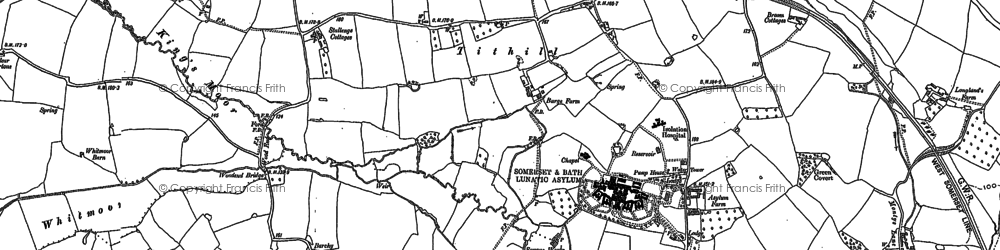 Old map of Tone Vale in 1887
