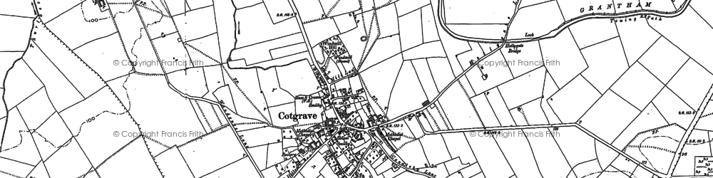Old map of Wolds Hill in 1883