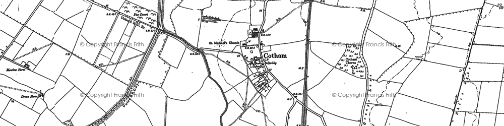 Old map of Balderton Grange in 1887