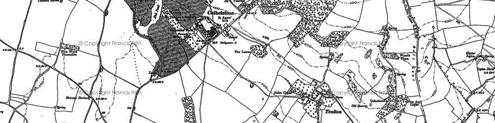 Old map of Cothelstone in 1887