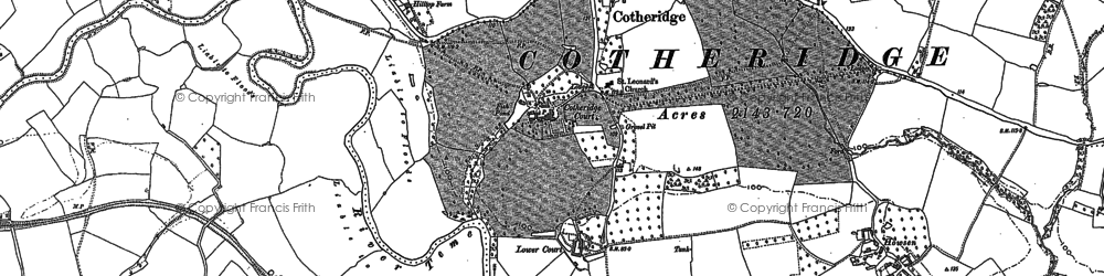 Old map of Tinkers' Cross in 1884
