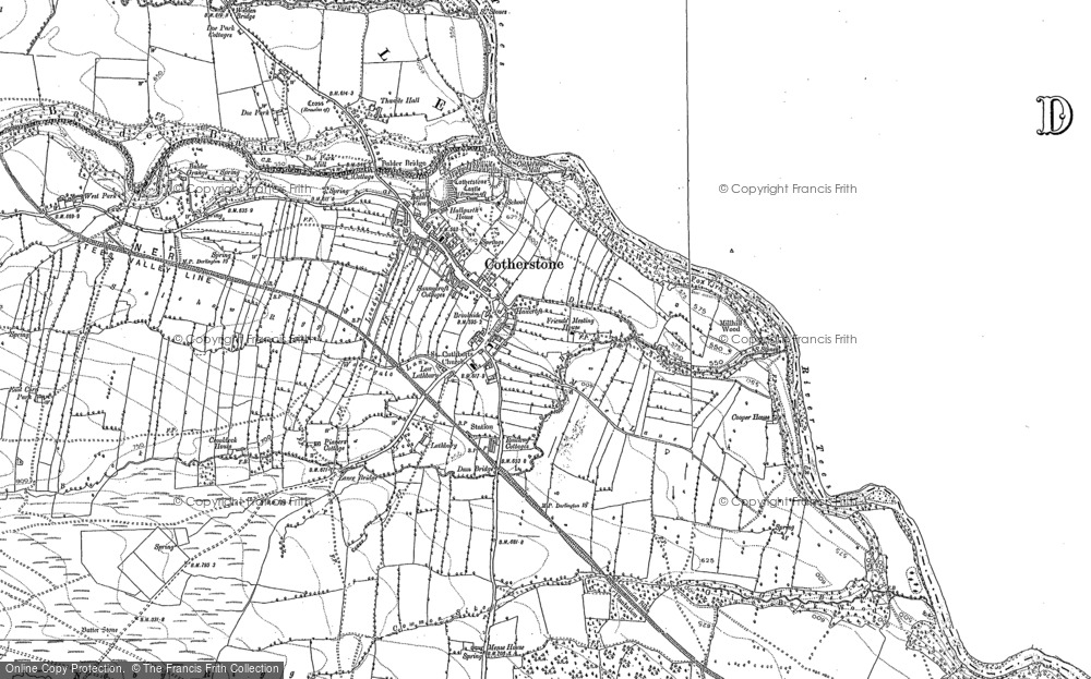 Old Map of Historic Map covering Balder Grange in 1896