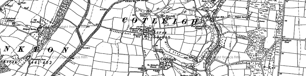 Old map of South Wood Fm in 1888
