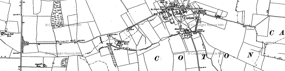 Old map of Wheatcases in 1886