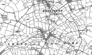 Old Map of Coton in the Elms, 1900