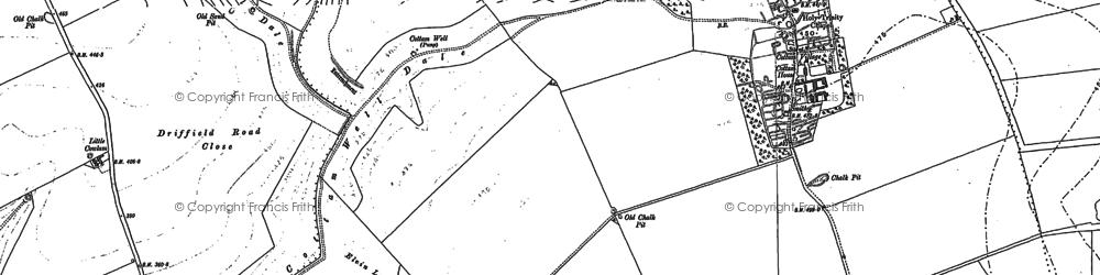 Old map of Langtoft Grange in 1888