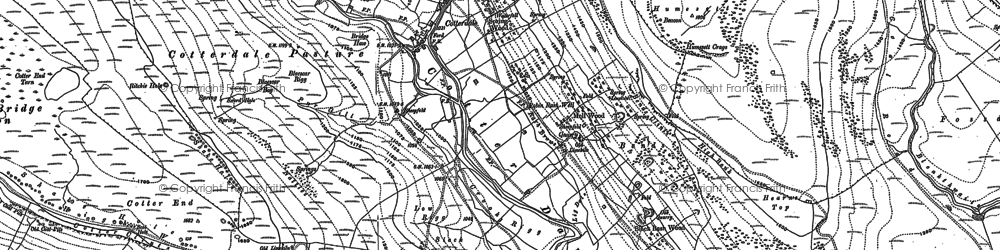 Old map of West Side in 1907