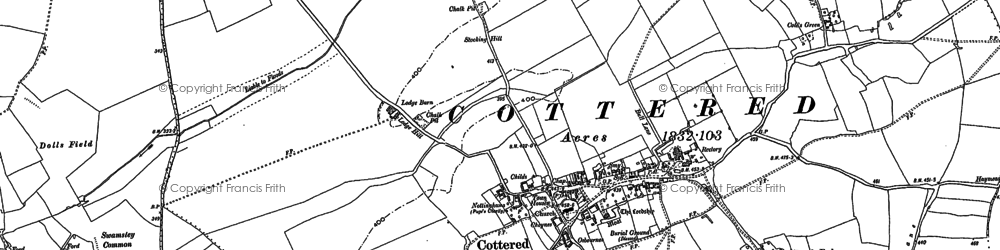 Old map of Hare Street in 1896