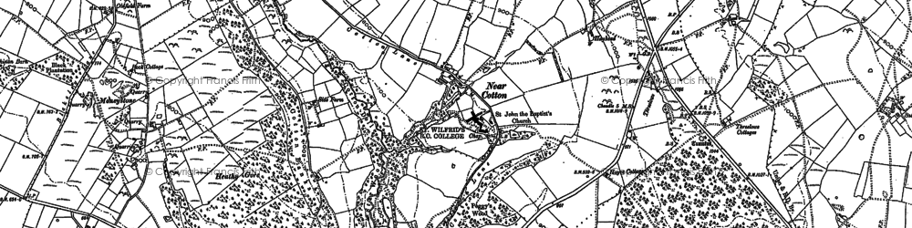 Old map of Lanehead in 1880