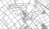 Old Map of Cotton End, 1882