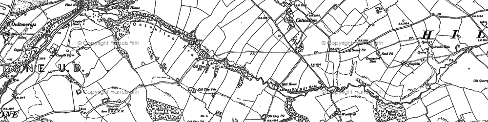 Old map of Wooliscroft in 1879