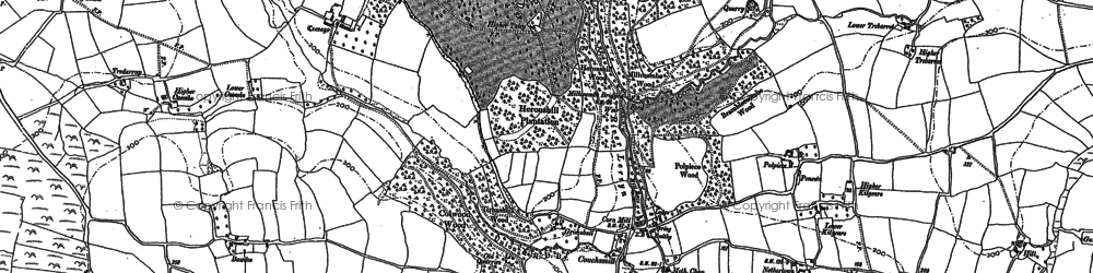 Old map of Abovetown in 1881