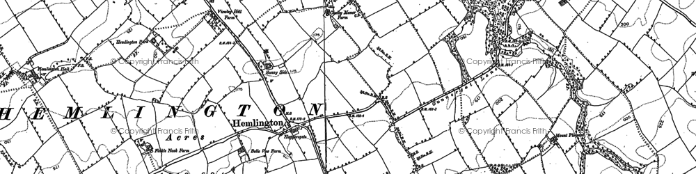 Old map of Coulby Newham in 1892