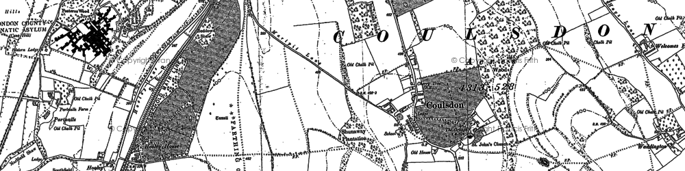 Old map of Coulsdon in 1894