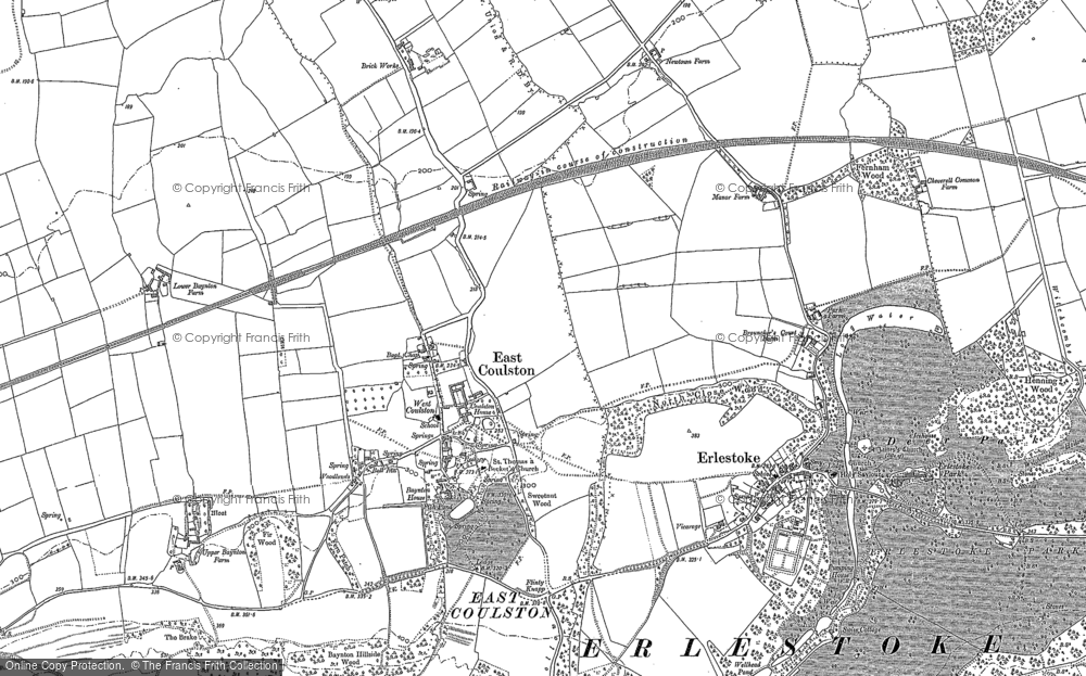 Old Map of Coulston, 1899 - 1900 in 1899