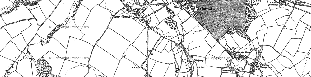 Old map of Wormwood Coppice in 1882