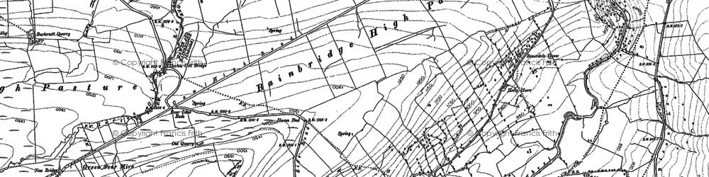 Old map of Bainbridge Low Pasture in 1892