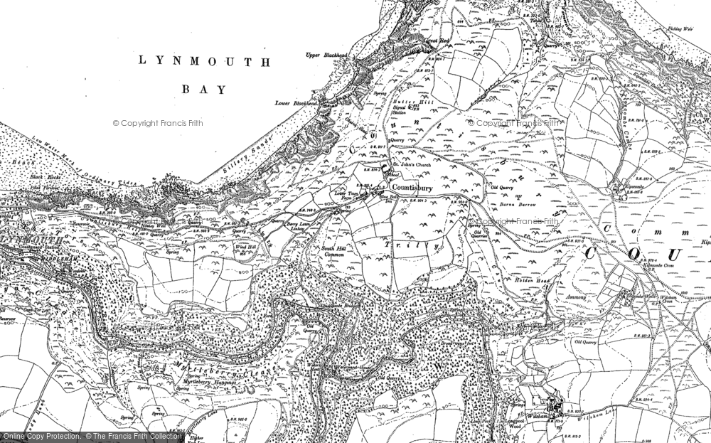 Old Map of Historic Map covering Leeford in 1903