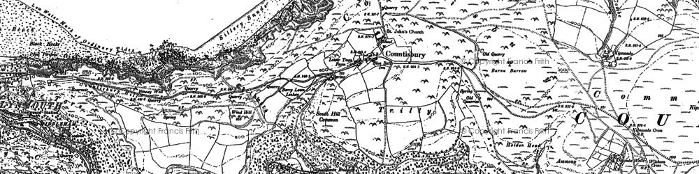 Old map of Wilsham in 1903
