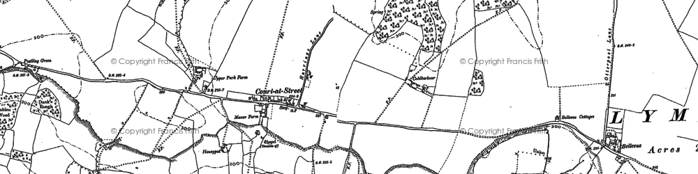 Old map of Aldington Knoll in 1896