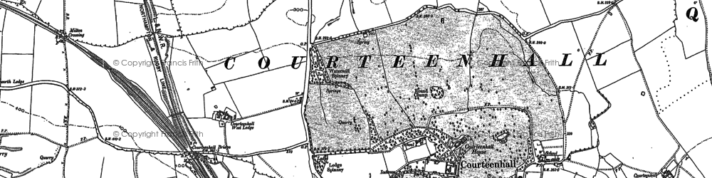 Old map of Courteenhall in 1883