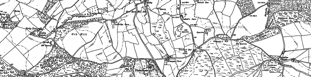 Old map of Timbercombe in 1887