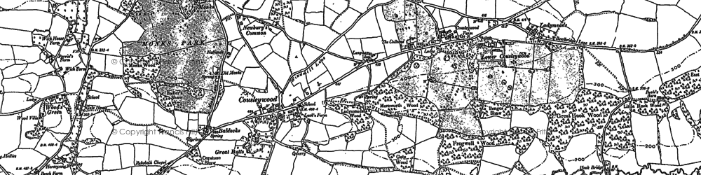 Old map of Cousley Wood in 1907