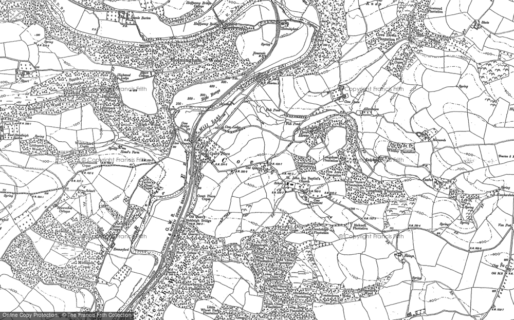 Old Map of Cove, 1887 in 1887