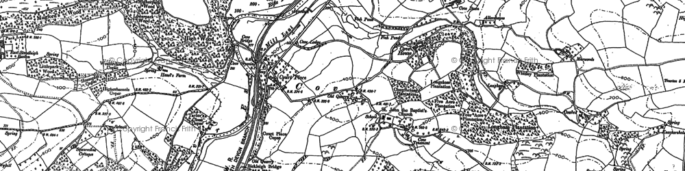 Old map of Cove in 1887