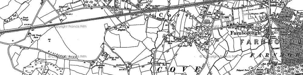 Old map of Cove in 1909