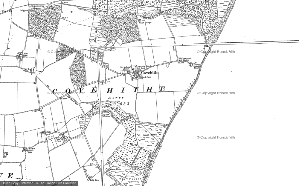 Old Map of Historic Map covering Ausgates in 1910