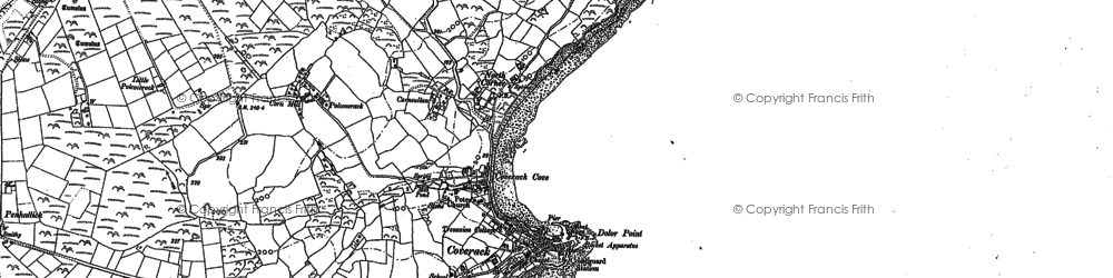 Old map of North Corner in 1906