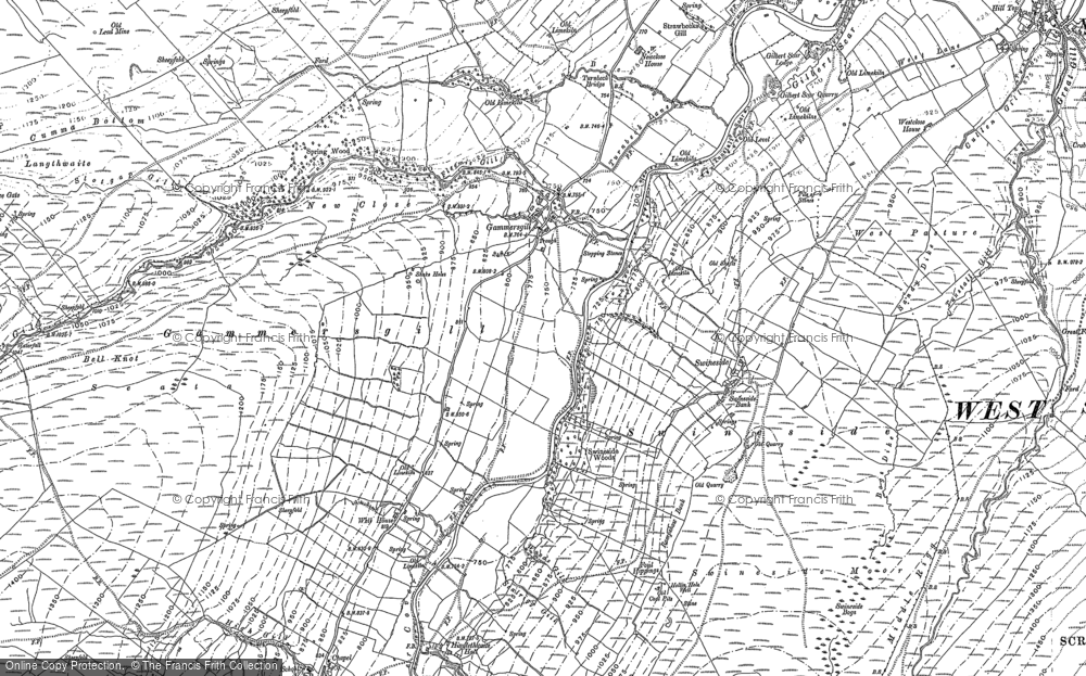 Old Map of Historic Map covering Arundel Grange in 1910