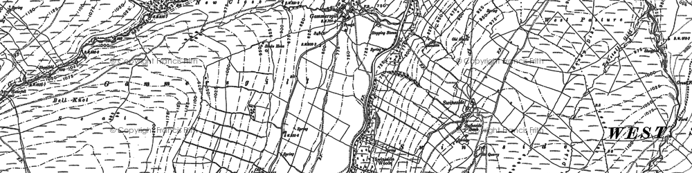 Old map of West Scrafton Moor in 1910