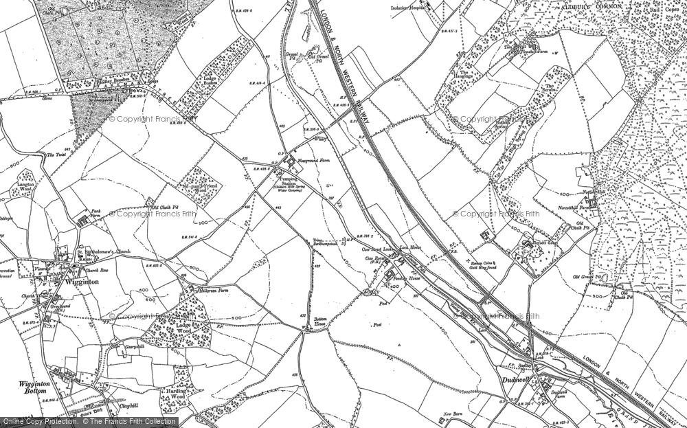 Old Map of Historic Map covering Tinker's Lodge in 1922