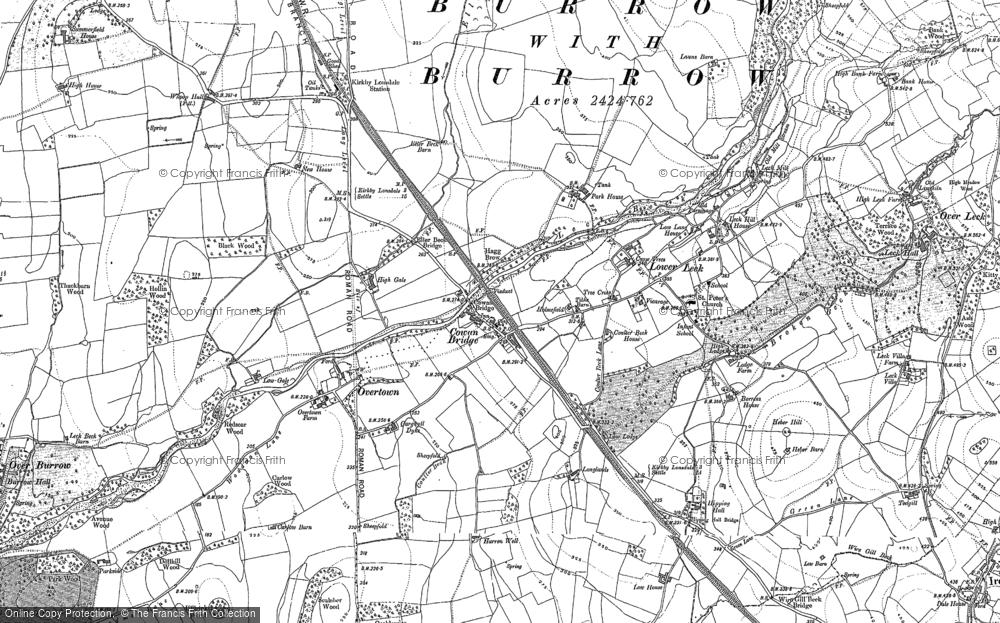 Old Map of Cowan Bridge, 1910 in 1910