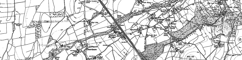 Old map of Cowan Bridge in 1910