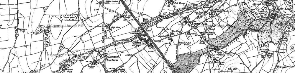 Old map of Cowan Bridge in 1910