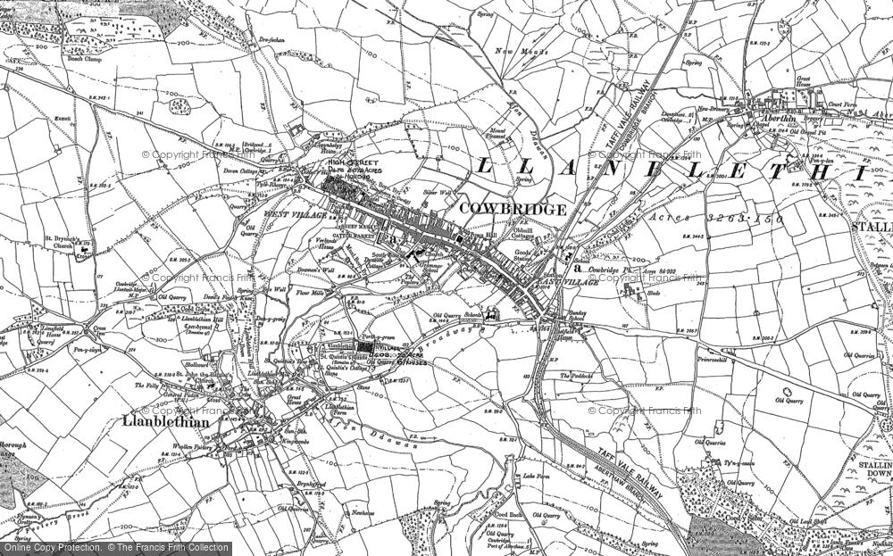 Old Map of Cowbridge, 1897 in 1897