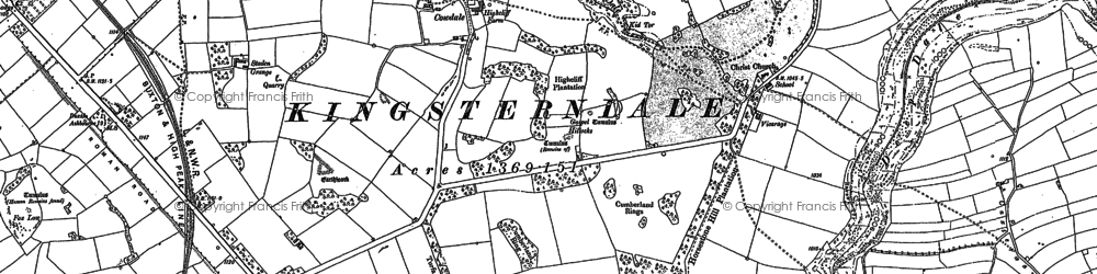 Old map of Woolow in 1879