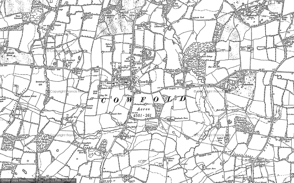 Old Map of Historic Map covering Bankfield Grange in 1896